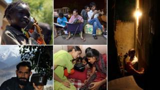 People around the world listening to radios