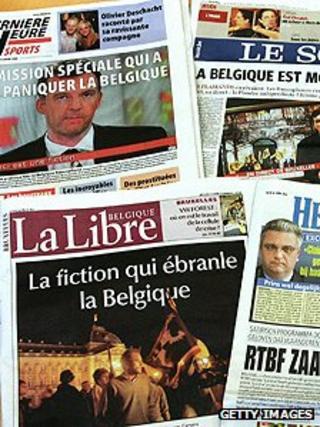 Belgian newspapers