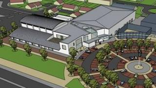 A plan of how the new leisure centre would look on the proposed site