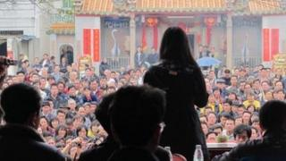 Candidates make campaign speeches in Wukan