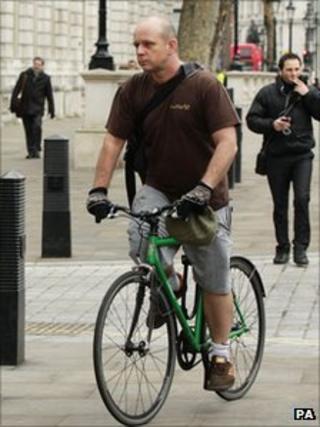 Steve Hilton on his bike