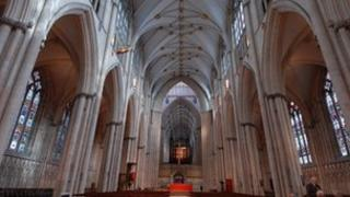 The interior of the Nave at York Minster