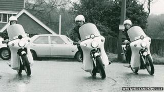 West Midlands Police motorbikes - Norton Commando motorcycles c1970