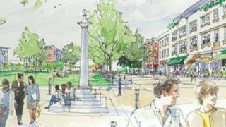 Artist's impression of Jubilee Square