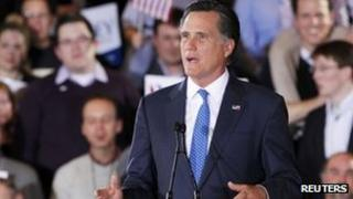 Mitt Romney in Boston. Photo: 6 March 2012