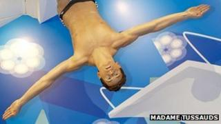 Tom Daley waxwork. Pic: Madame Tussauds
