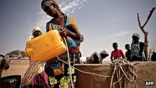 Fetching water in drought stricken South of Mauritania. Feb 2012