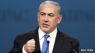 Israel's PM Benjamin Netanyahu in Washington, 5 March 2012