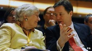 Nick Clegg and Baroness Williams