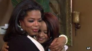 Oprah Winfrey and Bobbi Kristina Brown