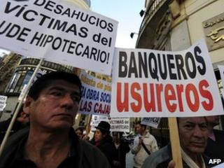 Madrid protest against evictions, 12 Mar 12