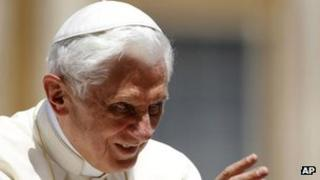 Pope Benedict giving a blessing