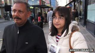 Naushad Waheed (left) and former Maldives High Commissioner to the UK, Farah Faizal