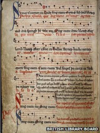 Original manuscript for Sumer Is Icumen In