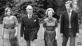 Thatcher family in 1979