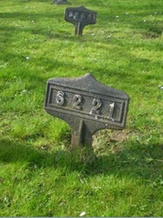 Grave markers. Photo: Sunderland Council