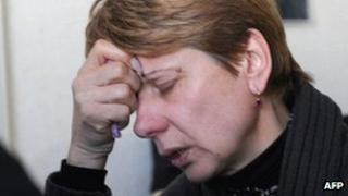 Lyubov Kovalyova, mother of Vladislav Kovalyov, who was executed for the April 2011 metro bombings in the Belarusian capital, Minsk.