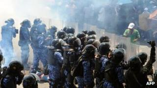 Protests in the Maldives on Monday