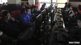 File photo: Internet users in China
