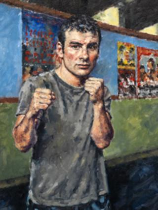 Mark Davey's portrait of champion boxer Joe Calzaghe