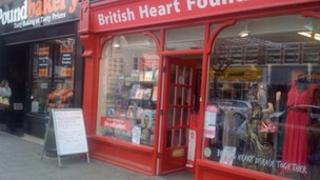 British Heart Foundation shop in Mold