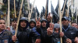 Hizb ul-Tahrir protest in Tripoli, Lebanon - 22 2 2012