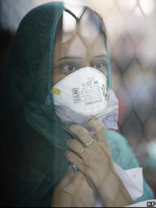 File picture of India swine flu patient