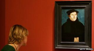 Portrait of Martin Luther in Berlin museum