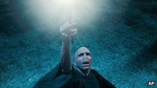 Lord Voldermort in a scene from Harry Potter and the Deathly Hallows: Part 1