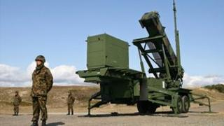 Japanese interceptor missile launcher in Akita, northern Japan (file image)