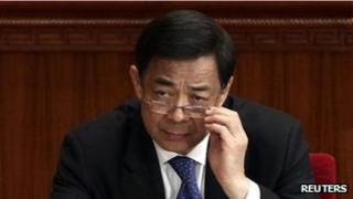 Bo Xilai at the Great Hall of the People in Beijing, in this file picture taken 3 March, 2012
