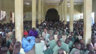 A group of children in a Nigerian school