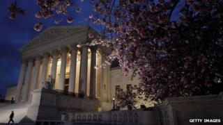 The US Supreme Court at first light, Washington DC 28 March 2012