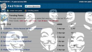 Pastebin screenshot merged with Anonymous image