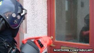 Police on anti-drugs operation. Pic: Northern Constabulary