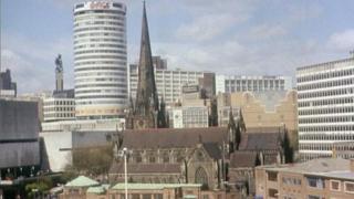 Birmingham skyline in 1992