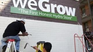 WeGrow store sign in Washington, DC, 29 March 2012