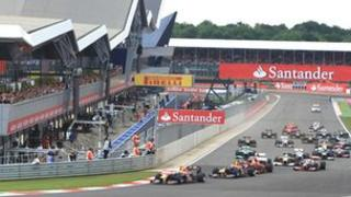 The start of the British Grand Prix in 2011