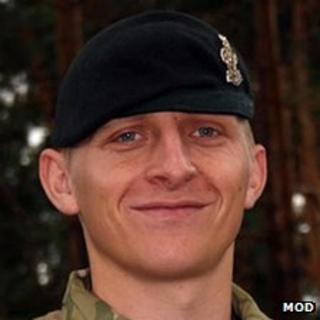 Deceased UK soldier Corporal Jack Stanley