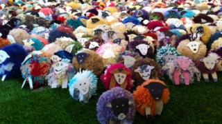 Picture showing some of the sheep currently on display at the Rheged Centre, Penrith