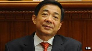 Bo Xilai at the closing ceremony of the National People's Congress annual sessions in Beijing, 14 March 2012