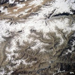 Karakoram range from space