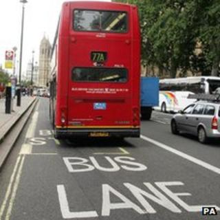 Bus Lane in London