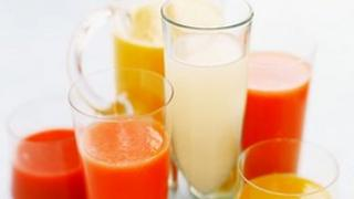 Juices and soft drinks