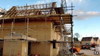 A new housing development