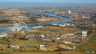 Site of proposed incinerator at Saddlebow, King's Lynn