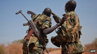 South Sudanese soldiers in Heglig (library)
