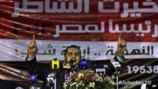 Egypt's Muslim Brotherhood presidential candidate Khairat al-Shater in Cairo (April 17, 2012)