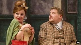 Suzie Toase and James Corden