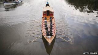 """New Royal Barge the """"Gloriana"""" on The River Thames at Isleworth"""